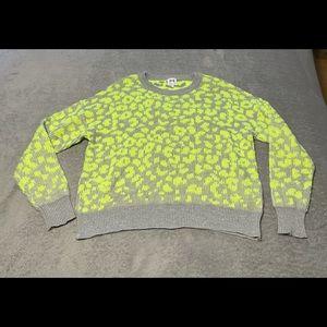 John + Jenn super soft cheetah neon sweater size large. Very good condition